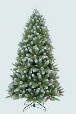 """Ель искусственная TRIUMPH TREE """"Императрица с шишками"""" 215 см заснеженная (art. 73541)"""